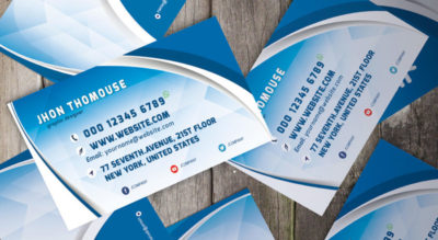 Blue-Business-Card