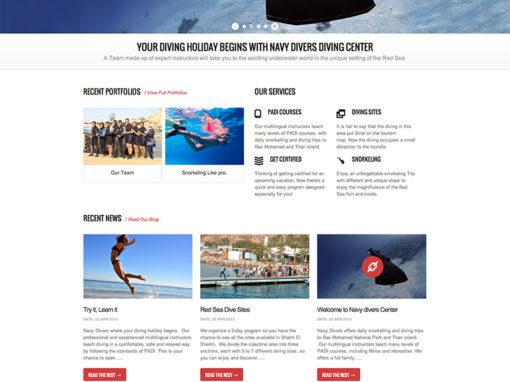 Navy Divers   Website