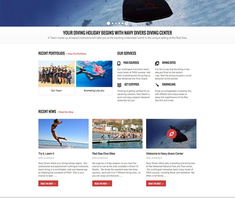 Navy Divers | Website
